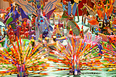 Alebrijes typical mexican crafts from oaxaca stock photo for Oaxaca mexico arts and crafts
