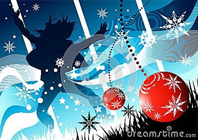 Alegría de la Navidad del invierno