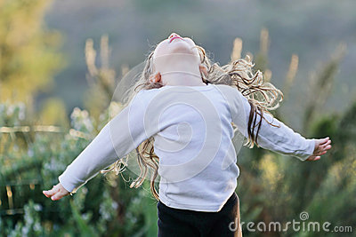 A alegria de uma criança