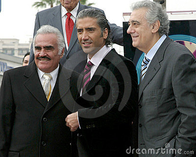 Alejandro Fernandez, Placido Domingo, Vincente Fernandez Editorial Stock Image