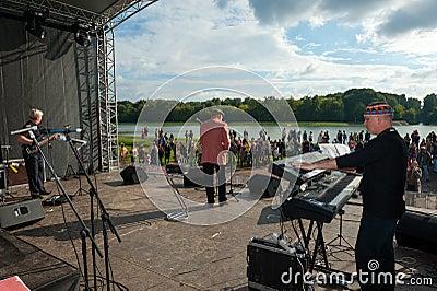 Aleksej Kozlov Arsenal group performs at Usadba Jazz Festival Editorial Stock Image
