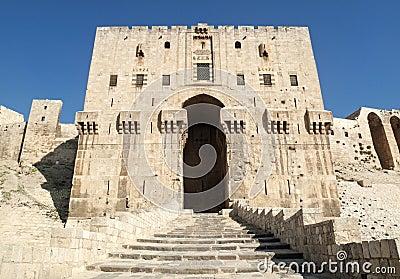 Aleppo citadel fortress in syria
