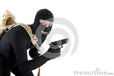 Alert thief surprised before his job
