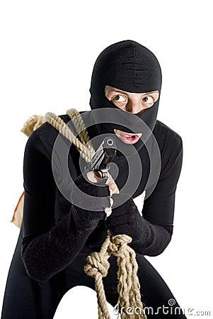 Alert thief talking to himself