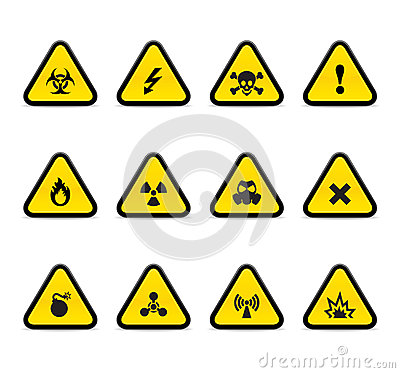 Free Alert Triangles Royalty Free Stock Photography - 32606247