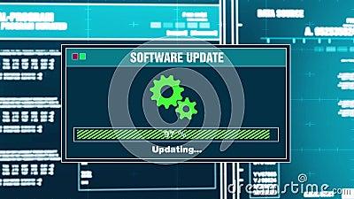 95 Alerta terminado atualização da mensagem de advertência do progresso da atualização de software na tela ilustração do vetor