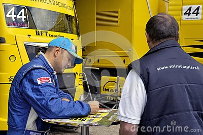 Ales - France - Grand Prix of France trucks May 25th and 26th, 2013 Editorial Stock Photo