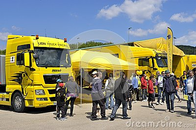 Ales - France - Grand Prix of France trucks May 25th and 26th, 2013 Editorial Stock Image
