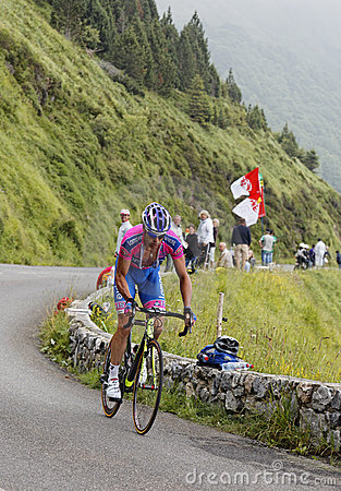 Alessandro骑自行车者petacchi 编辑类库存图片