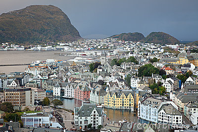 Alesund the prettiest city in Norway