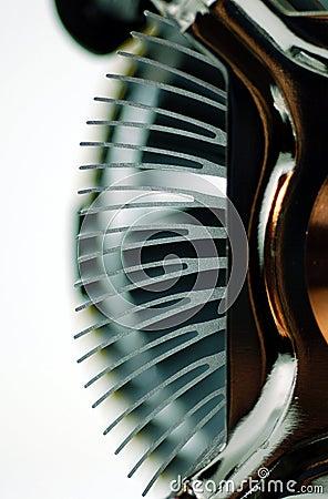 Aleta del disipador de calor de la CPU