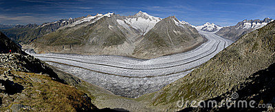Aletsch glacier - panoramic view