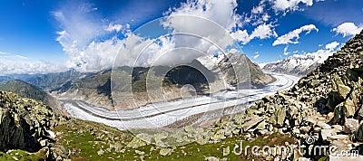 Aletsch glacier in summer