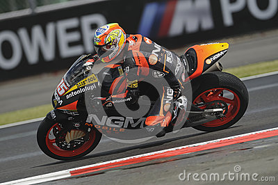 Alex de angelais, moto 2, 2012 Editorial Stock Photo