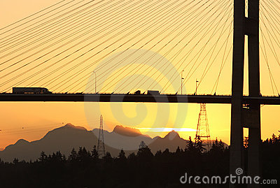 Alex Fraser Bridge Vancouver Dawn