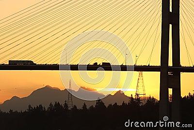 Alex Fraser Bridge Vancouver Dawn