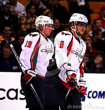 Alex Ovechkin and Nicklas Backstrom (Capitals) Editorial Photography