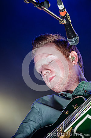 Alex Trimble, Two Door Cinema Club at The O2 Dublin Editorial Stock Image