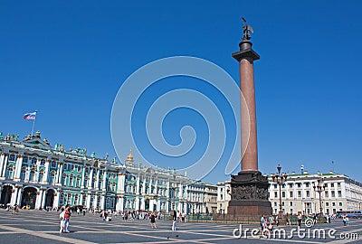 Palace Square, Saint Petersburg Editorial Stock Photo