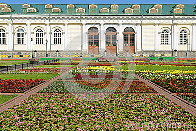 Alexander Garden and Moscow Manege. Russia
