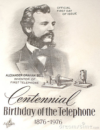 Alexander Graham Bell commemorated Editorial Image