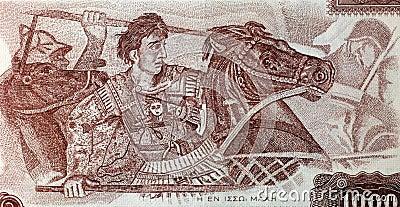 Alexander The Great na batalha Imagem Editorial
