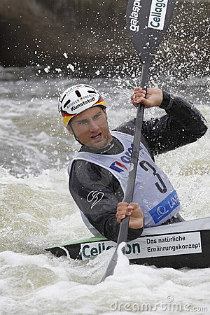 Alexander Grimm in water slalom world cup race  Editorial Image