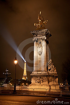 Alexander III Bridge in Paris, France Editorial Stock Photo