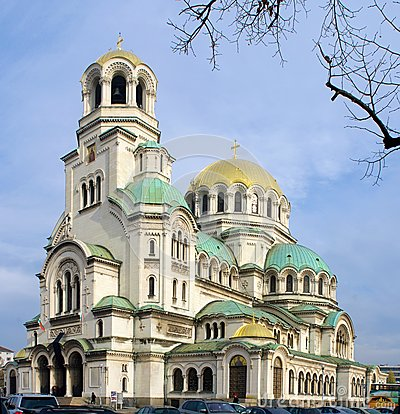 Alexander Nevsky cathedral and square in Sofi
