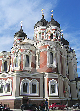 Free Alexander Nevsky Russian Orthodox Cathedral In Tallinn, Estonia Royalty Free Stock Images - 32545449