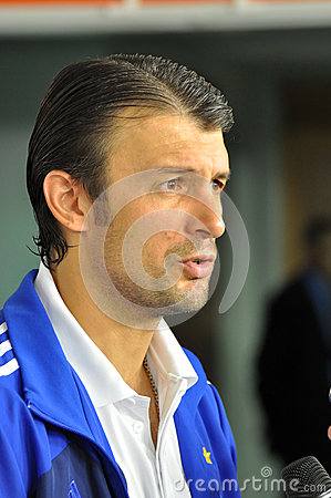 Alexander Shovkovskiy give an interview Editorial Photo