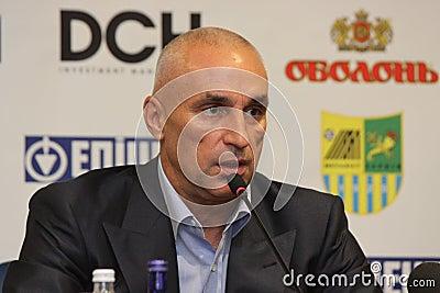 Alexander Yaroslavsky at press conference Editorial Photo
