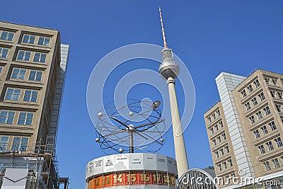 The Alexanderplatz in Berlin