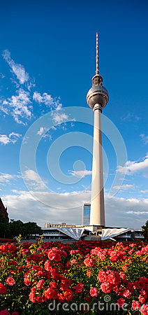 Alexanderplatz Television Tower in summer