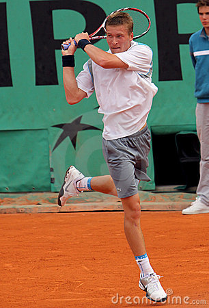 Alexandre SIDORENKO (FRA) at Roland Garros 2009 Editorial Image