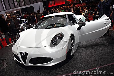 Alfa Romeo 4C Launch Edition - Geneva Motor Show 2013 Editorial Stock Image