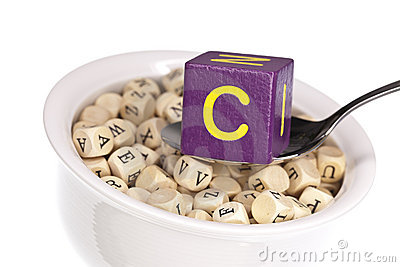Alfabet c som presenterar det rika soupvitaminet