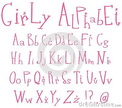 Alfabet flickaktigt