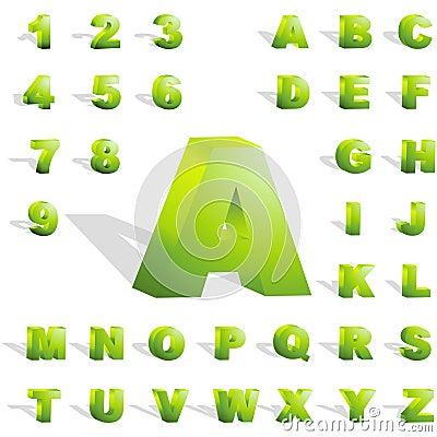 Alfabeto 3d.