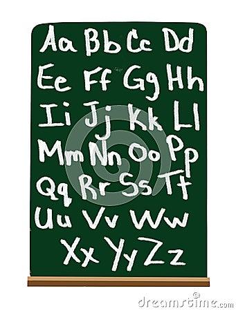 Alfabeto de la escuela primaria