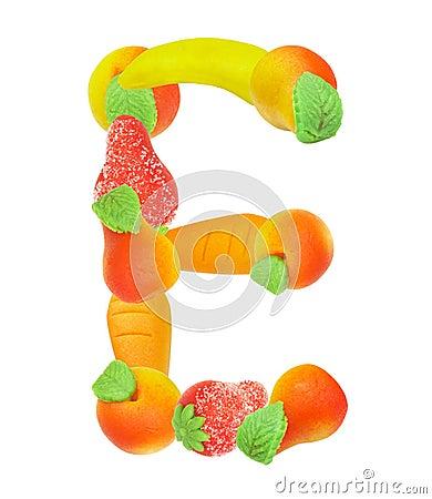 Alfabeto de la fruta, la letra E