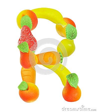 Alfabeto de la fruta, la letra R
