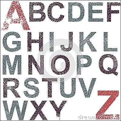 Alfabeto di Grunge