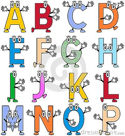 Alfabeto engraçado dos desenhos animados [1]