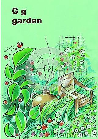 Alfabeto, g-jardim