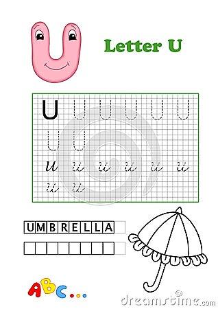 Alfabeto, guarda-chuva