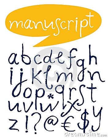 Alfabeto. Letras desenhadas mão.