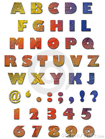 Alfabeto - textura de la pared