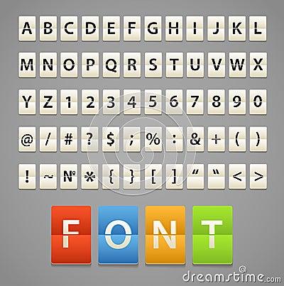 Alfabeto y dígitos