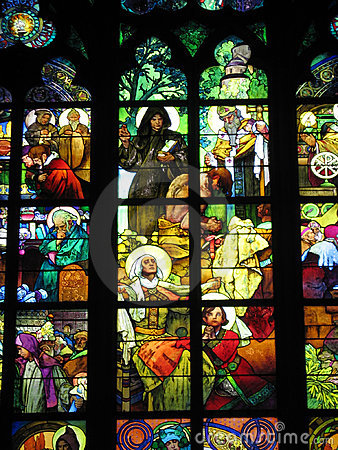 Alfons Mucha s stained-glass